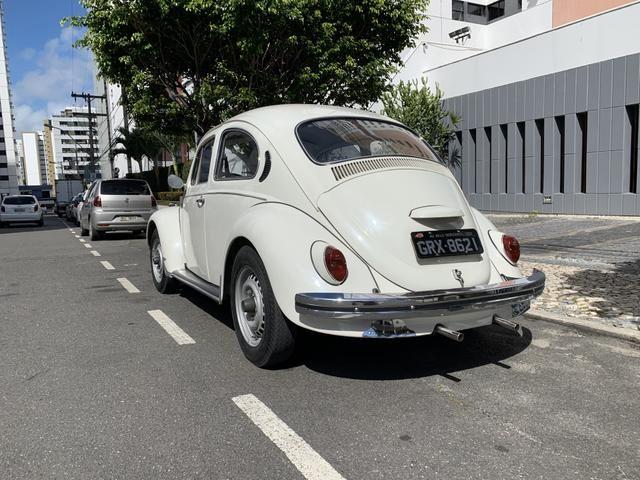 Fusca 1300 77/77 placa preta - Foto 5