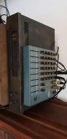 Caixa de som 2 mesa de som 1 e amplificador - Foto 5