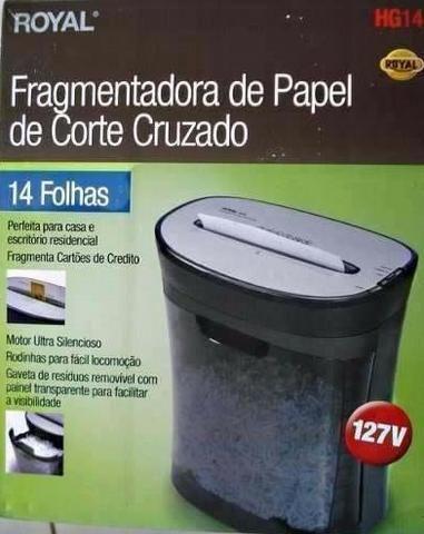 Fragmentadora de Papel Trituradora Royal 14 Folhas Cartão Cd - Foto 5