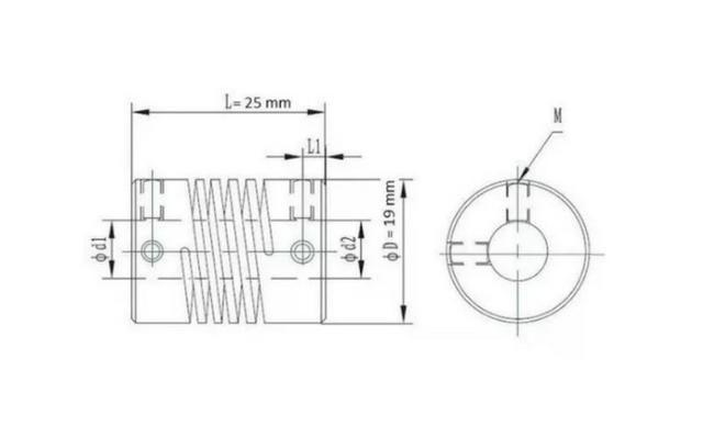 COD-CP161 Acoplamento Flexível 8x8mm Eixo,fuso Arduino Automação Robotica - Foto 2