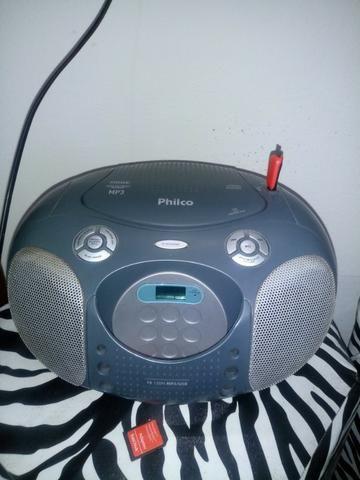3b366c64b Rádio Boombox Preto Cinza PB120N Entrada USB e Auxiliar