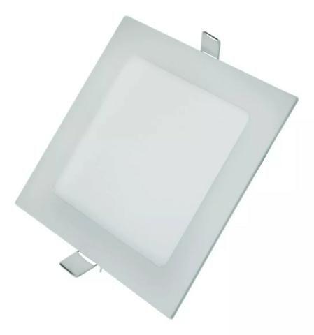 Luminária Plafon Led Quadrado Embutir 12w Classe A Fino