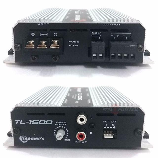 Modulo Taramps Tl-1500 390w Rms 3 Canais Amplificador - Foto 2