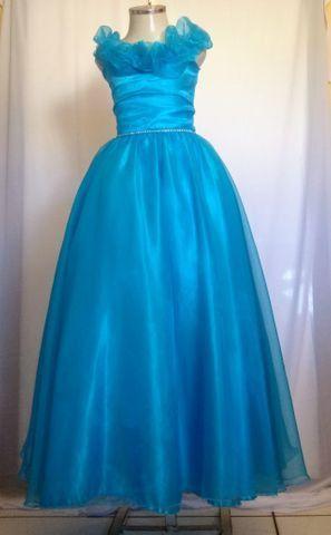 Vestido de festa infantil azul - Foto 2
