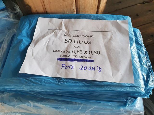 Sacos de Lixo 50L / 100L / Preto e Azul - Foto 3