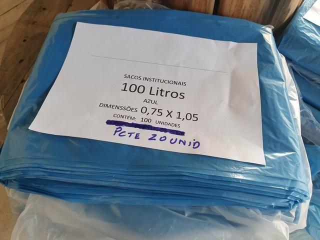 Sacos de Lixo 50L / 100L / Preto e Azul - Foto 2