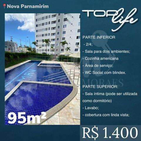 ALUGO duplex no Top Life - Av. Maria Lacerda - Com armários - 2/4 - R$ 1.400,00 - TL2940