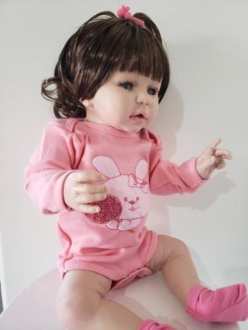 Boneca Bebê Reborn de Silicone 50cm - Foto 3