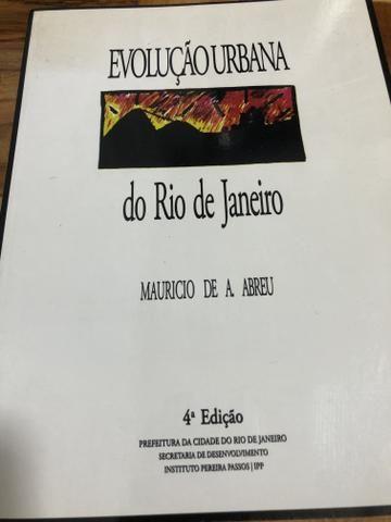 Livro Evolução Urbana do Rio de Janeiro