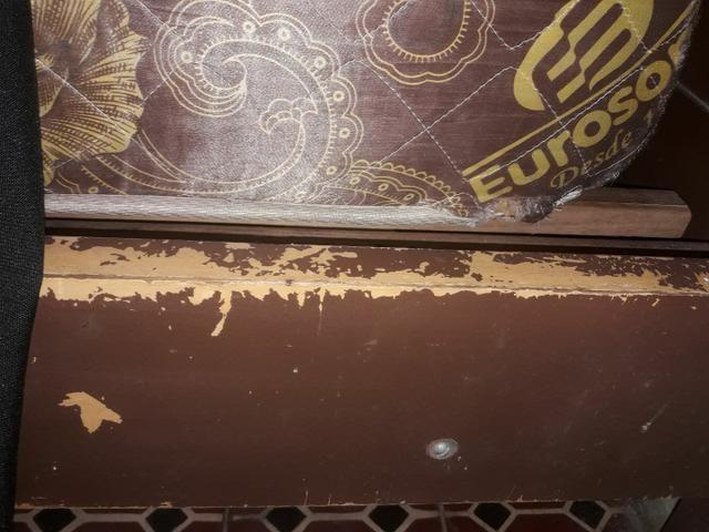 Cama queen de madeira usada  - Foto 3