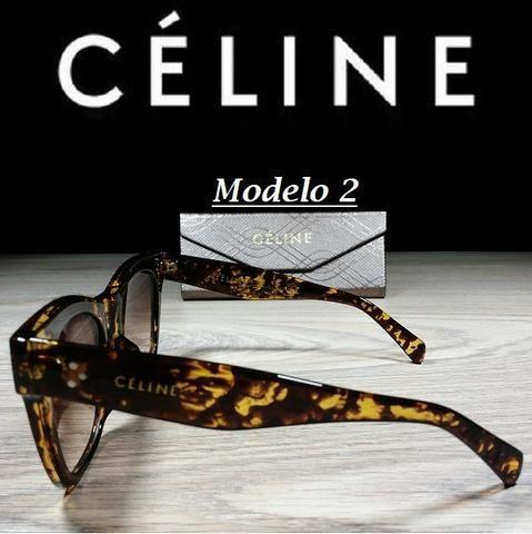 Óculos Feminino Céline Quadrado 5689 com Proteção UV - Foto 4