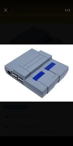Raspiberry pi 3 b+ com sd 128gb case snes