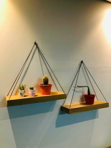 2 prateleiras para plantas livros e fotos R$ 80,00 - Foto 2