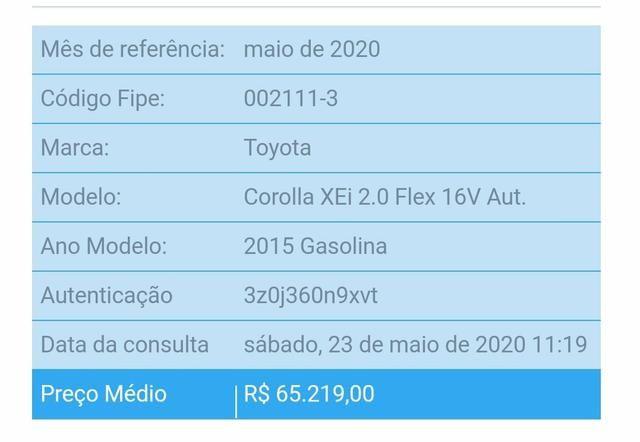 Corolla XEI 2015 - Foto 6
