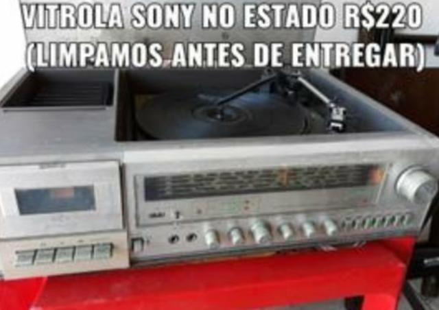 Vitrola Sony e Gradiente