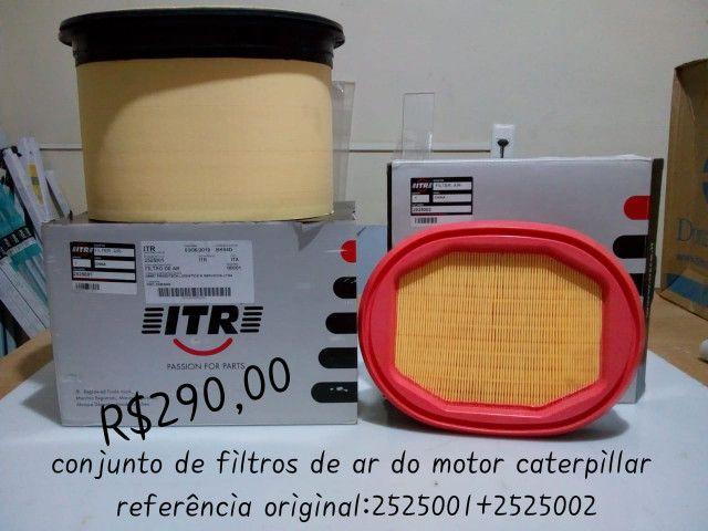 Conjunto do Filtro de Ar do Motor Caterpillar Referencia Original 2525001 + 2525002