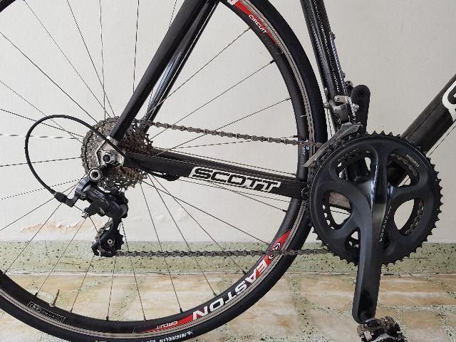 Bike Scott Speed Road Scott CR1 Pro Full Carbon tam 58 - perfeita - AC troca por mtb 29 - Foto 3