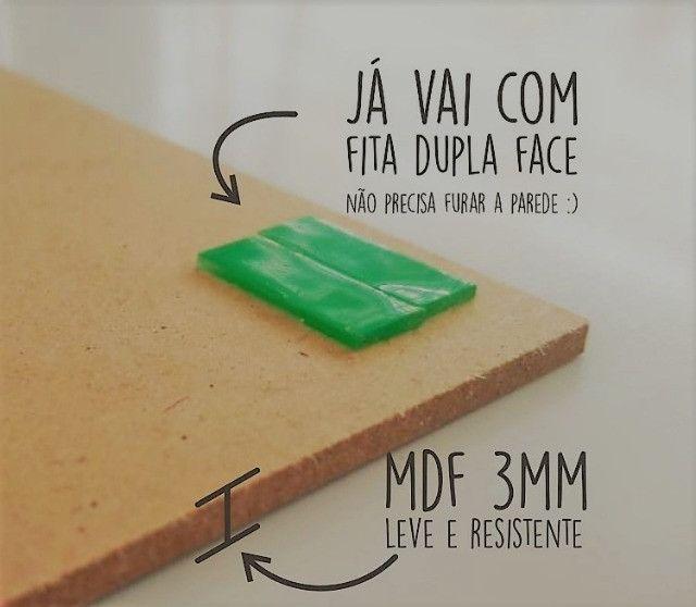 Kit 3 Placas Decorativas Mdf 42x30 Antes De Tudo Fé Gratidão - Foto 3