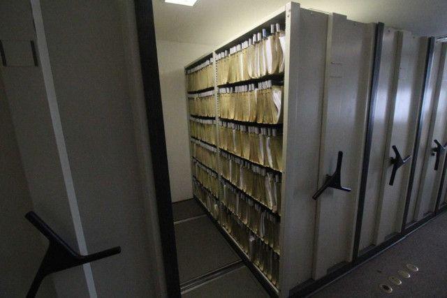 Arquivo Deslizante / 8 módulos / em Metal Cinza 210 cm x 576 cm x 213 cm - Foto 2