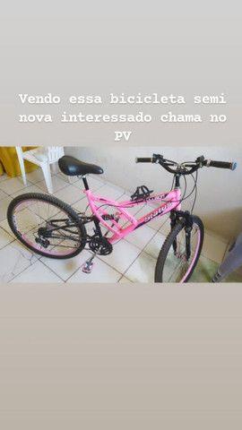 Vendo bicicleta Rosa Adulto em excelente estado