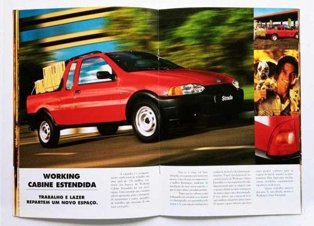 Fiat Strada LX, Trekking e Working - catálogo, folder, brochura - ótimo estado - Foto 6