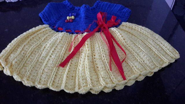 Vestidos/casaquinhos de crochê para meninas. - Foto 6