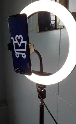 Ring light do grande, 1,80m anel de 26cm (entrega grátis) - Foto 3