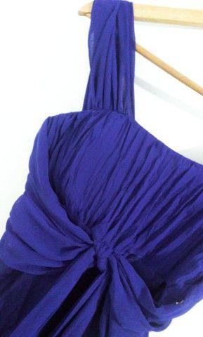 Vestido longo de festa azul  - Foto 4