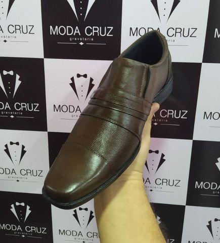 Sapatos Sociais Couro Legítimo- só na Moda Cruz - Foto 6