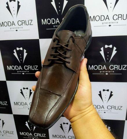 Sapatos Sociais Couro Legítimo- só na Moda Cruz - Foto 2