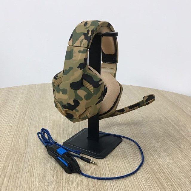 Headset Satellite Ae-367c Com Microfone - Camuflagem Verde - Foto 3