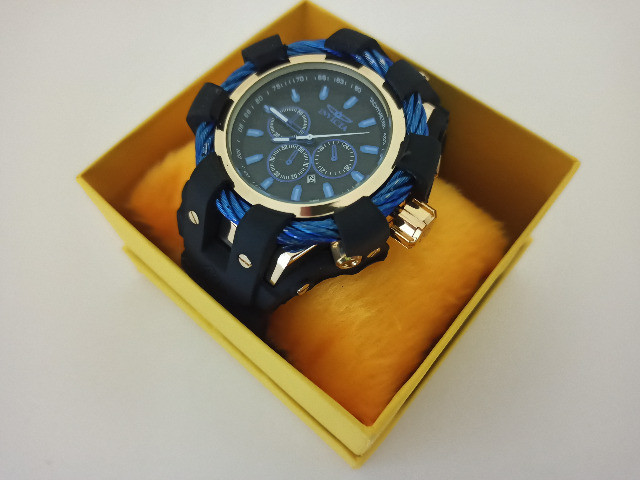 Relógio Masculino dourado pulseira ajustavel - Foto 2