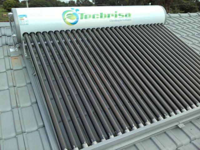 Aquecedor Solar de Tubo a Vácuo Acomplado 5 Anos de Garantia Tecbrisa