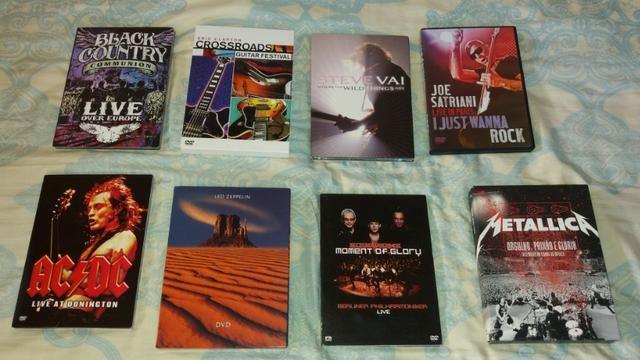 DVD's/Blu-Ray AC/DC, Metallica, Pantera. outros