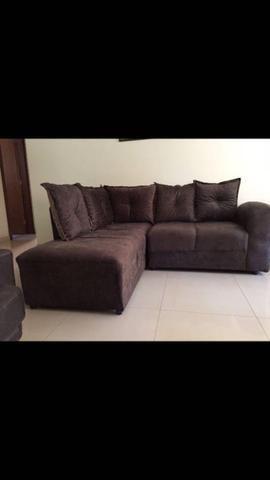 Sofá de canto Larissa c/5 almofadas - Foto 4