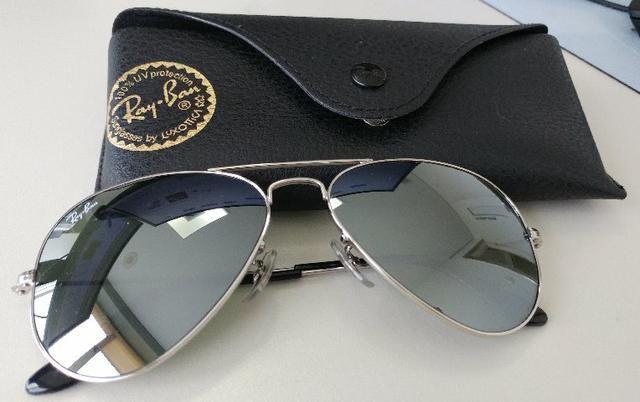 Óculos Ray-Ban Aviator Espelhado Prata Original - Bijouterias ... f41de0f9d1