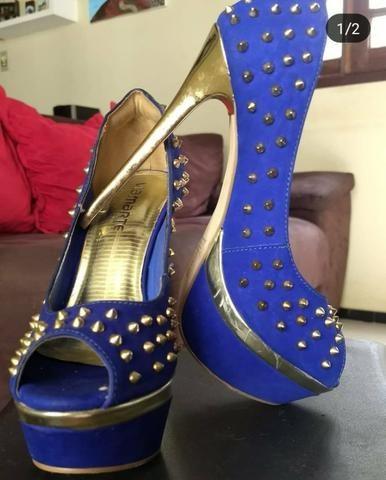 f3356bd860 Sapato Via Marte em Couro Azul Royal - Roupas e calçados - Pirajá ...