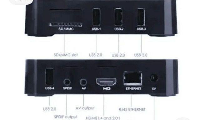 TV Box 5G - 32gb -Transforme sua TV em Smartv - Netflix, YouTube e net - Foto 5