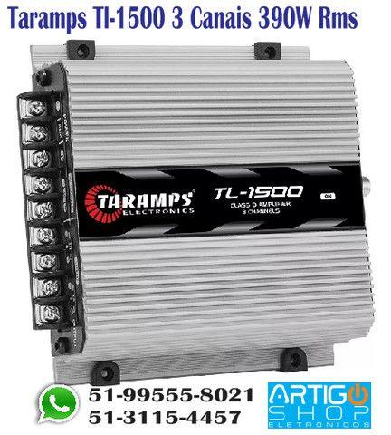 Modulo Taramps Tl-1500 390w Rms 3 Canais Amplificador