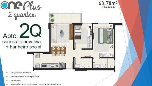 Apartamento 2 Quartos/suíte - Jardim América - Avenida T-9 - Foto 3