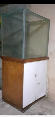 Vendo aquário completo com bomba e filtro - Foto 4