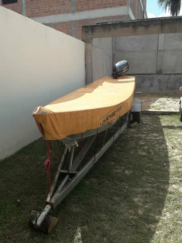 Barco motor 40 e carreta - Foto 4
