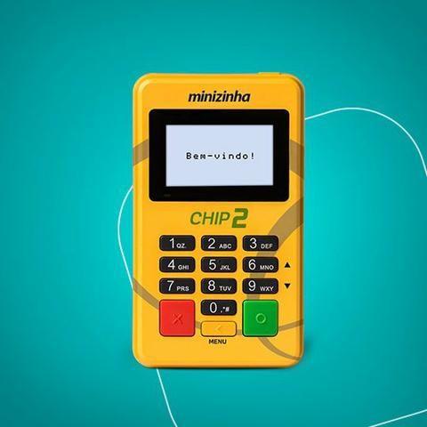Máquina de cartão minizinha chip2 - Foto 2