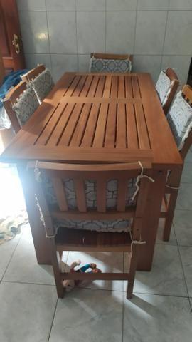 Mesa de madeira de Lei maciça - Foto 5