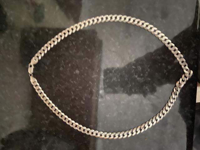 Cordão de prata grosso 100% 50 gramas - Foto 3