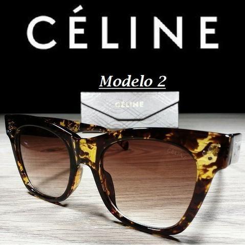 Óculos Feminino Céline Quadrado 5689 com Proteção UV - Foto 3