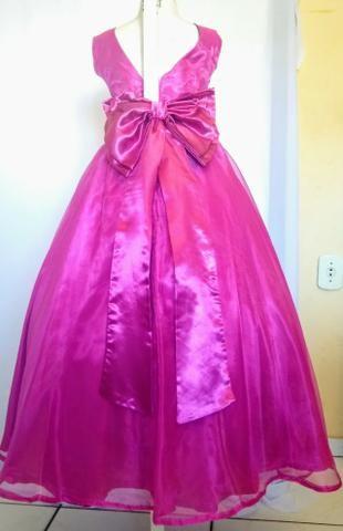 Vestidos de festa infantil rosa pink