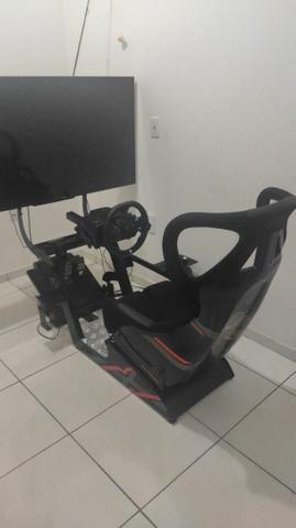 Cockpit X Extreme Racing Estação Completa<br>, Com volante G29 e câmbio manual