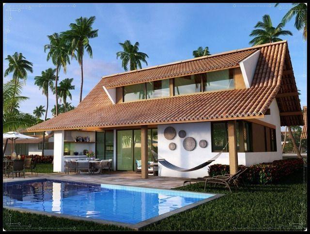 GN- Casa duplex na praia do Cupe, 4 quartos, piscina privativa, varanda gourmet - Foto 9