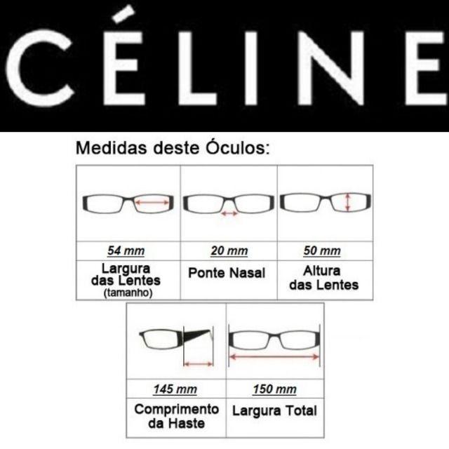 Óculos Feminino Céline Petra Redondo CL41447 com Proteção UV - Foto 5